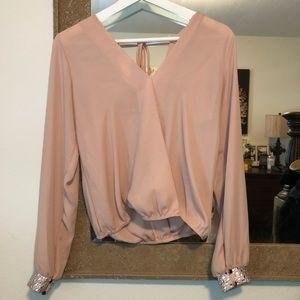 Nude blouse